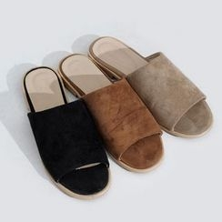 Sonne - 絨面寬條涼鞋