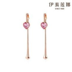 Italina - Heart Shaped Swing Earrings