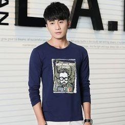 Walwa - Long-Sleeve Printed T-Shirt