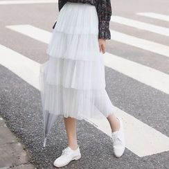 HotBlock - 雪纺中长半身裙