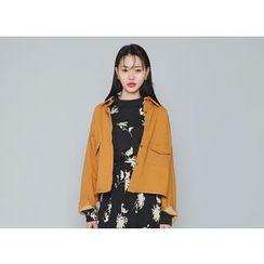 Envy Look - Dual-Pocket Loose-Fit Shirt