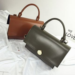 VANYAR - Faux Leather Satchel
