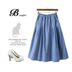 Ainvyi - Elastic Waist Maxi Skirt