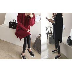 DAILY LOOK - V-Neck Knit Dress
