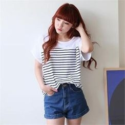 Cocopop - Round-Neck Stripe T-Shirt