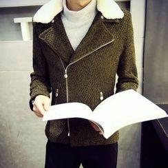 Hawoo - Fleece-Collar Zip Jacket