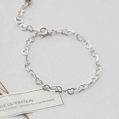 Love Generation - Hollow Hearts Sterling Silver Bracelet