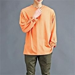 THE COVER - Colored Roll-Up Sleeve T-Shirt
