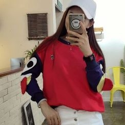 Tulander - Color Block Cartoon Pullover