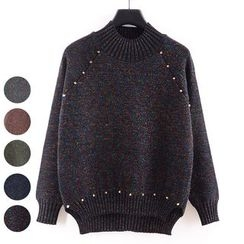 Tulander - Embellished Melange Knit Sweater