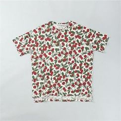 THE COVER - Short-Sleeve Pattern-Print T-Shirt