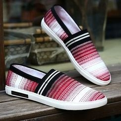 MARTUCCI - Patterned Canvas Slip-Ons