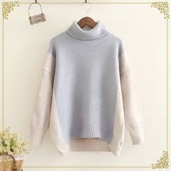 Fairyland - Turtleneck Color Panel Sweater