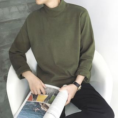 Soulcity - Mock Neck Long-Sleeve T-Shirt