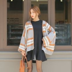 Cherryville - Open-Front Patterned Cardigan