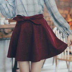 Tokyo Fashion - Bow-Accent A-Line Skirt