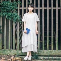 tete - Short-Sleeve A-Line Dress