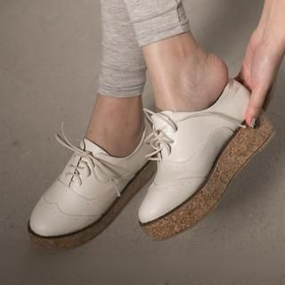 FM Shoes - Wedge Oxfords