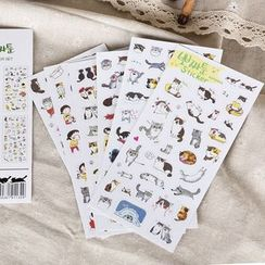Paper Plane - Set of 6: Cat Sticker