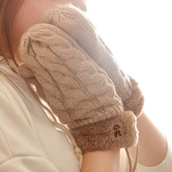 Show Home - Cable-Knit Mittens