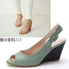MODELSIS - Peep-Toe Wedges