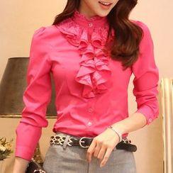 Caroe - Ruffle Front Shirt