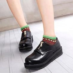 Mancienne - Platform Zip Loafers