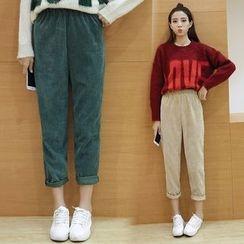 Sienne - Corduroy Loose-fit Pants