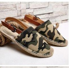 Easy Steps - 帆布饰扣带轻便鞋