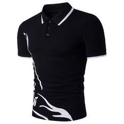 Hansel - Printed Short-Sleeve Polo Shirt