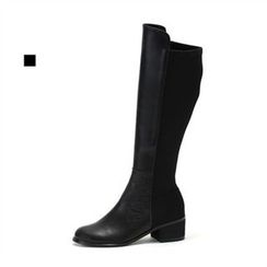 MODELSIS - Genuine Leather Zip-Side Boots