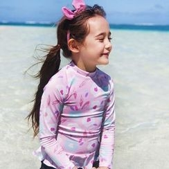 Moonrise Swimwear - Kids Set: Printed Rashguard + Swim Bottom