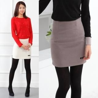 Celli Girl - Wool Blend Pencil Skirt