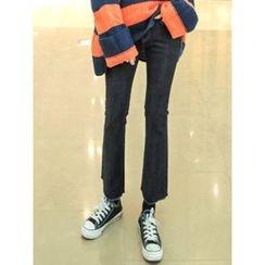 LOLOten - Brushed-Fleece Lined Boot-Cut Jeans