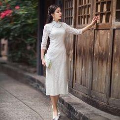 GU ZHI - 蕾丝旗袍