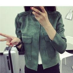 Mariposa - Faux Suede Cropped Jacket