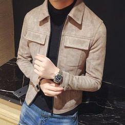 Maluda - Pocket-Accent Zip Jacket