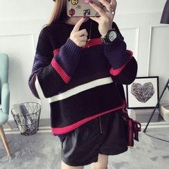 Qimi - Striped Thick Sweater