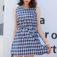 Fashion Street - Plaid Sleeveless Dress