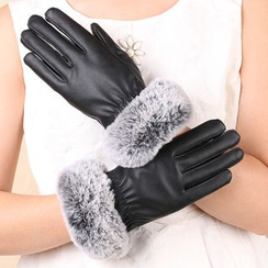 Fow Fow - Faux Fur Leather Gloves