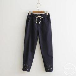 PANDAGO - Embroidered Harem Pants
