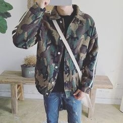 Real Boy - Camouflage Button Coat