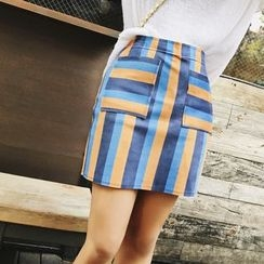 Jack Grace - Striped Pencil Skirt