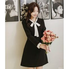 Sienne - Bow Long-Sleeve Dress
