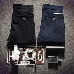 Besto - Flat-Front Pants