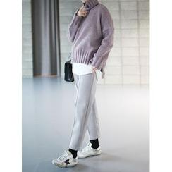 STYLEBYYAM - Drawstring-Waist Neoprene Sweatpants