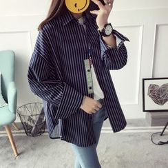 Qimi - Striped Oversized Shirt