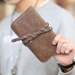 ETONWEAG - Studded Faux Leather Long Wallet