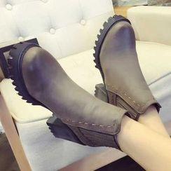 QQ Trend - Block Heel Platform Short Boots