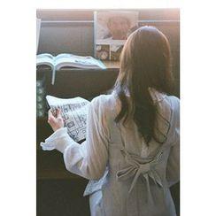 CHERRYKOKO - Beribboned-Back A-Line Jumper Dress